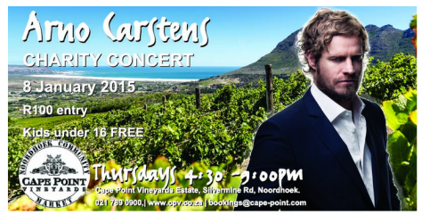 Arno Carstens at Cape Point Vineyards