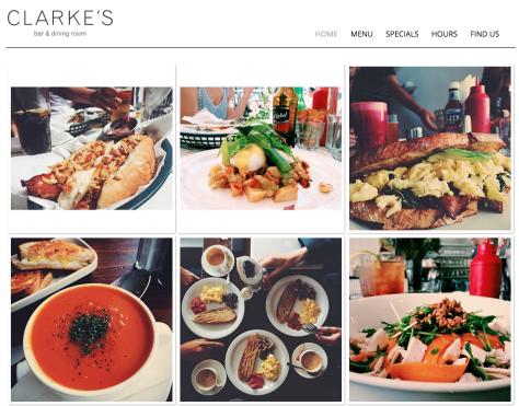 Clarkes Dining Website